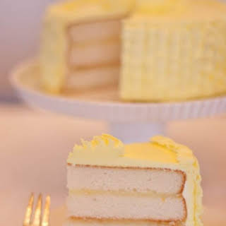 Triple Vanilla Cake with Meyer Lemon Curd and Buttercream.