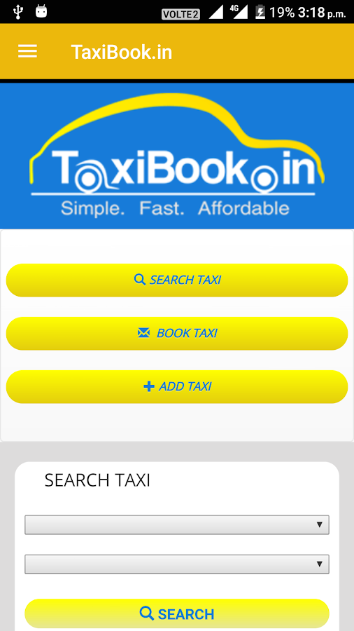 TaxiBook.in- screenshot