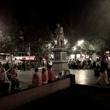 Photo: Rembrandt Square Amsterdam, NL  As my night was ending, their's was just beginning.  #project365 curated by +Simon Kitcher+Patricia dos Santos Patonand +Vesna Krnjic  #iphoneography