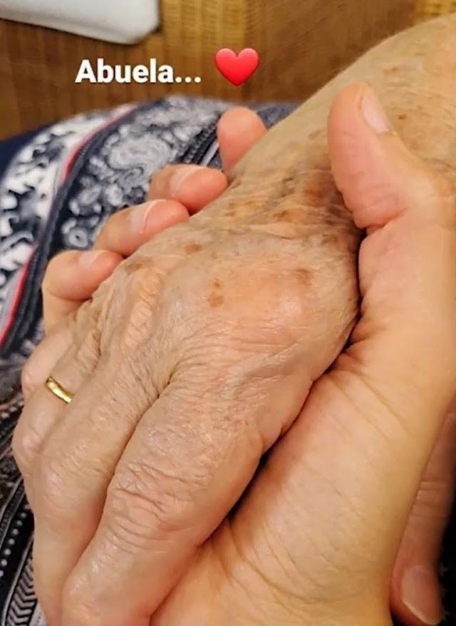 El reencuentro más emotivo para Isabel Jiménez, su abuela.