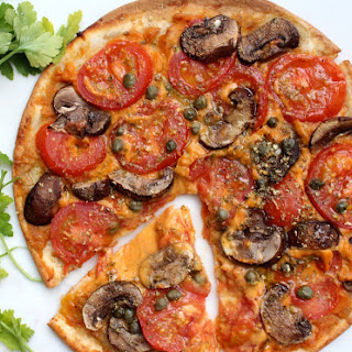 Fiery Sriracha No Cheese Hummus Pizza