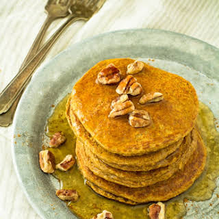 Healthiest Pumpkin Oat Protein Pancakes.