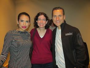 Photo: With Elvis Stojko and his wife Gladys Orozco