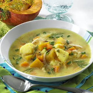 Potato and Pumpkin Soup.