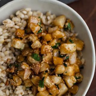 Sesame Roasted Turnips & Barley.