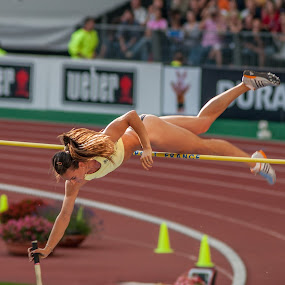 Queen Isinbayeva by Pascal Bénard - Sports & Fitness Other Sports ( isinbayeva, pole vault, athletism, stade de france, championship, active, running, runner, bani-bands, Bani Bands - RUNNERS Challenge )