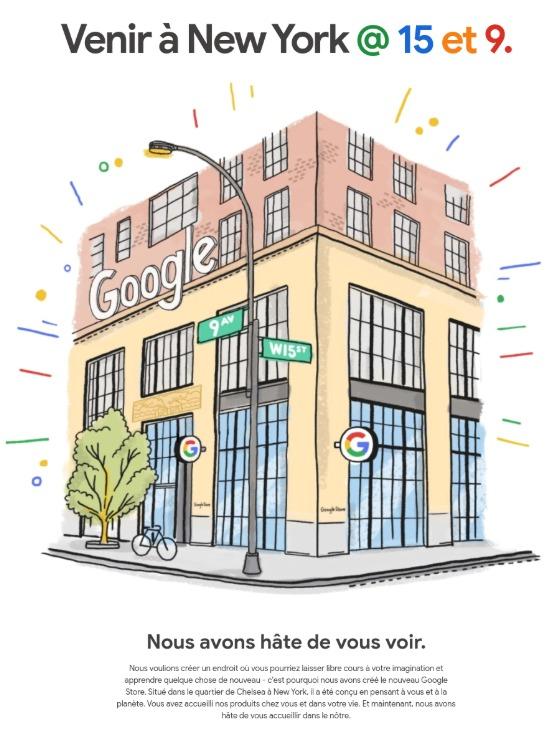 Google ouvre son premier magasin physique à New-York
