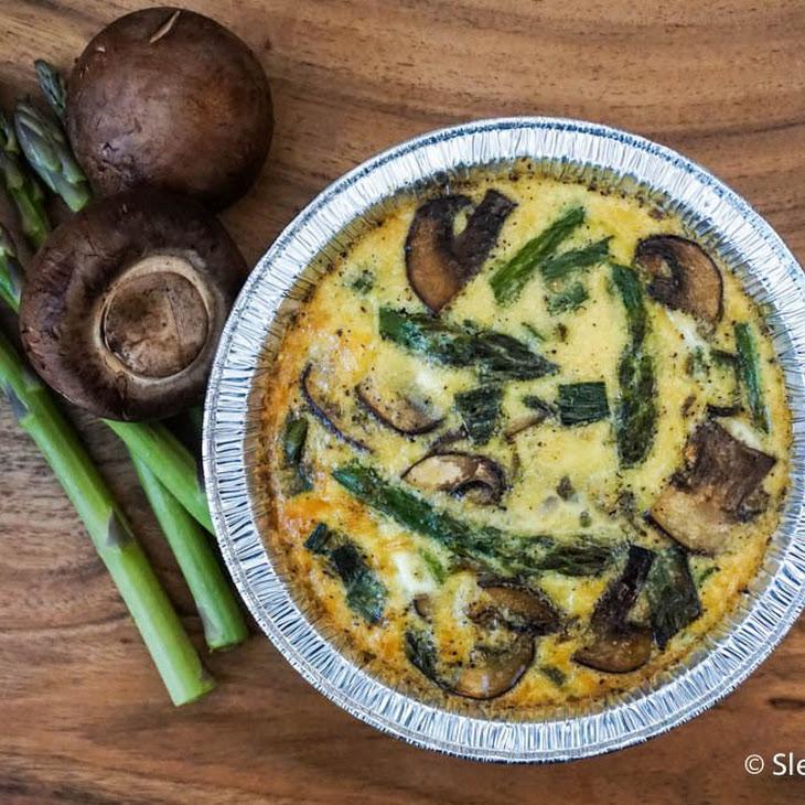 Asparagus and Mushroom Quinoa Frittatas