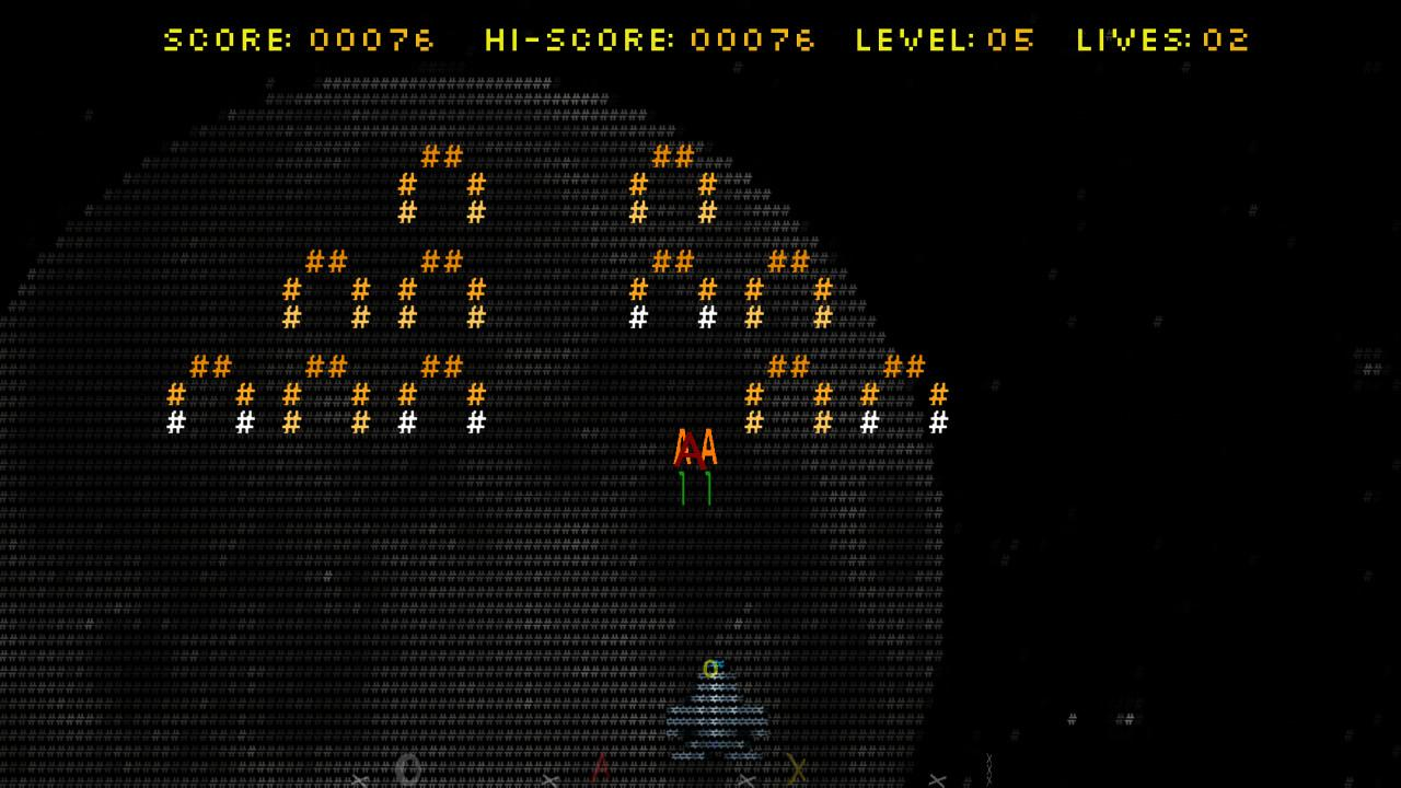 ASCII Art - Space Invaders- screenshot