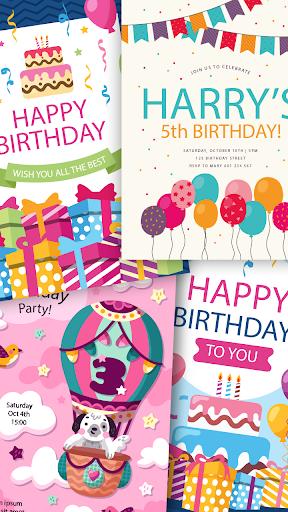 create birthday invitation card with