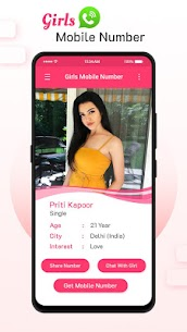 Girls Mobile Number for Chat: Girl Friend Search 3