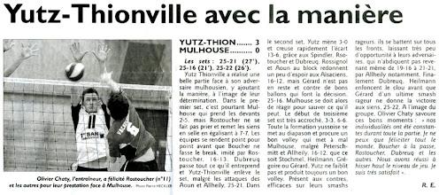 Photo: 15-04-2012 Belle prestation des N3M qui s'imposent 3-0 face à l'US Mulhouse
