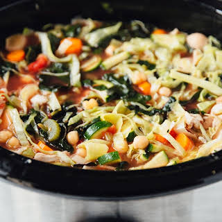 Slow Cooker Hearty Chicken Minestrone.