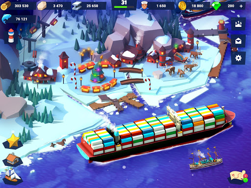 Sea Port: Build Town & Ship Cargo in Strategy Sim screenshots 12