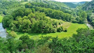 Photo: Vue du panorama. En haut à droite le site de grimpe.