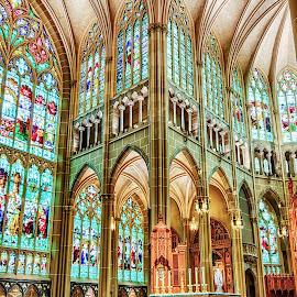 Worship by Richard Michael Lingo - Buildings & Architecture Other Interior ( altar, buildings, church, architecture, covington )