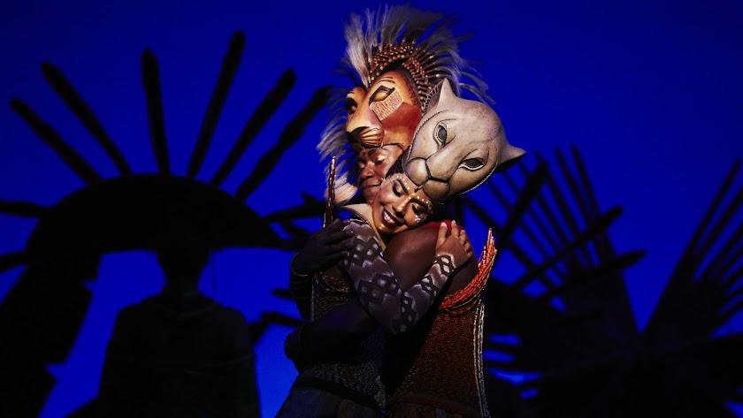 Una imagen del musical El Rey León.