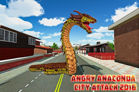 Angry Anaconda City Attack 2018 screenshot