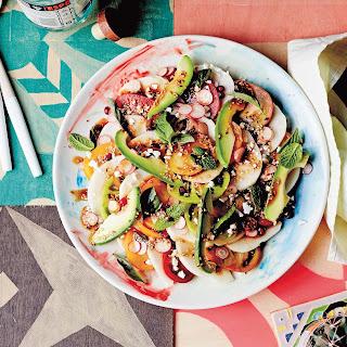 Tomato, Jicama And Pomegranate Salad.
