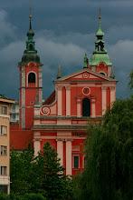 Photo: Franciscan Church on Prešeren Square, Ljubljana, Slovenia, 13-Jun-2012