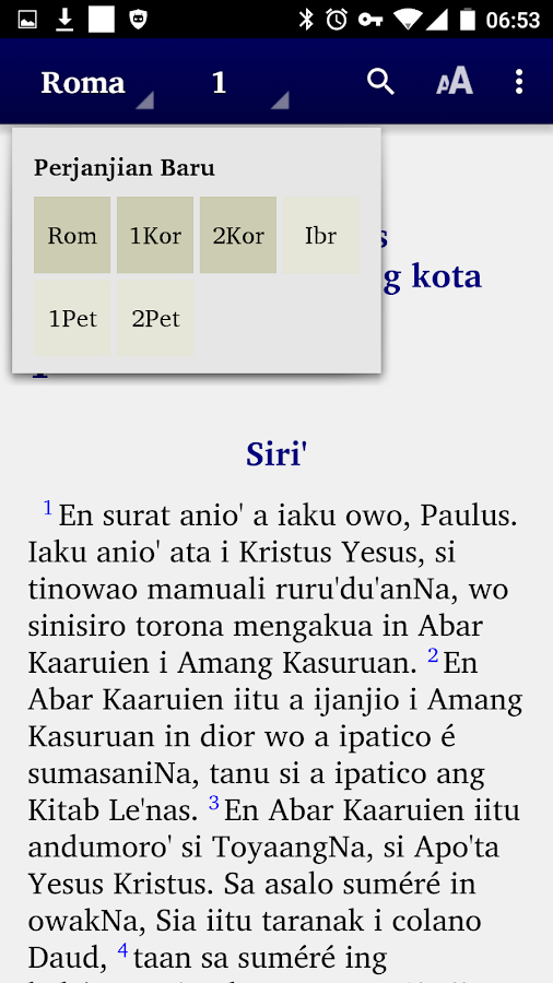 Alkitab Tontemboan- screenshot