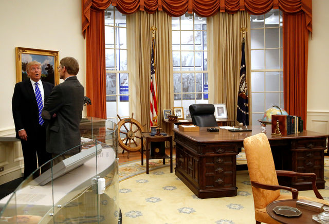 recreating oval office. perfect recreating oval office while campaigning president trump visited the gerald ford and ideas f