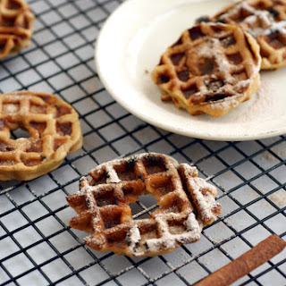 Low-Fat, Grain-Free, Egg-Free, Sugar-Free Waffle Apple Fritter Rings
