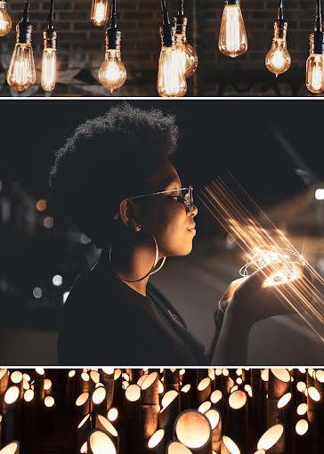 Illuminated Collage - Card Template