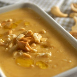 Creamy Pumpkin soup with cashews