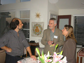 Photo: Professor Stergios Skaperdas Professor Edi Karni and  Marina Arseniev