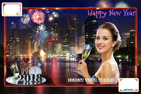 New Year Photo Frame 2018 :New Year Photo Editor - náhled