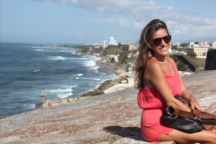 Enjoying the scenery and fresh salt air atop El Morro.