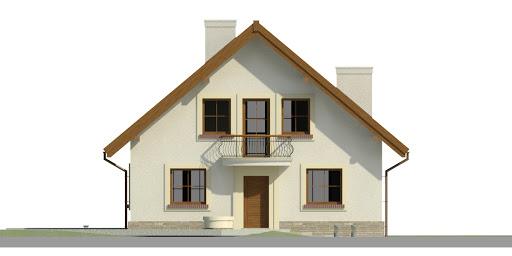 Dom przy Cyprysowej 42 - Elewacja przednia