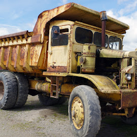 Retired and Rusted by Ingrid Anderson-Riley - Transportation Automobiles