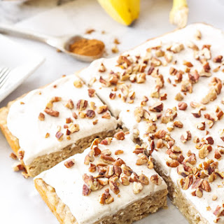 Banana Snack Cake with Cinnamon Cream Cheese Frosting