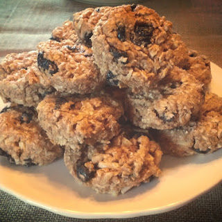 Blueberry Almond Oatmeal Cookies.