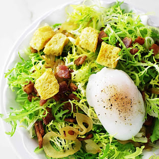 Salade Lyonnaise With Poached Duck Egg.