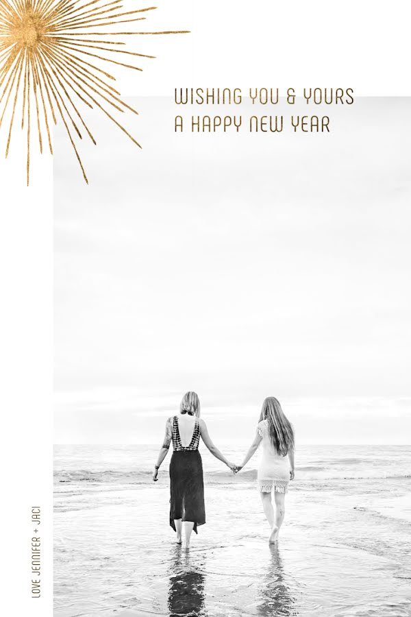 Greetings from Jen & Jaci - New Year's Template
