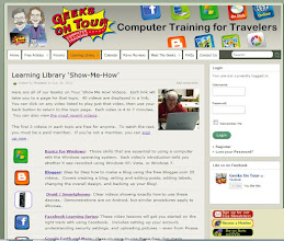 Photo: The Learning Library screen on our website. This is where all our Tutorial Videos are, thus the .TV!  Notice the Login form in the upper right side.