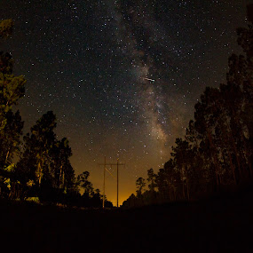 Meteoroid in the Way by Jack Goras - Landscapes Starscapes ( florida, star, georgia, landscape, space, milky way )