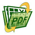 Spreadsheet to PDF icon