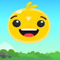 Jumping face icon