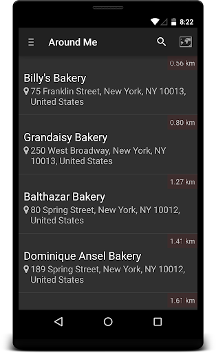 Locate Bakery