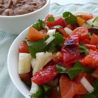 Homemade Salsa with Roasted Red Peppers.