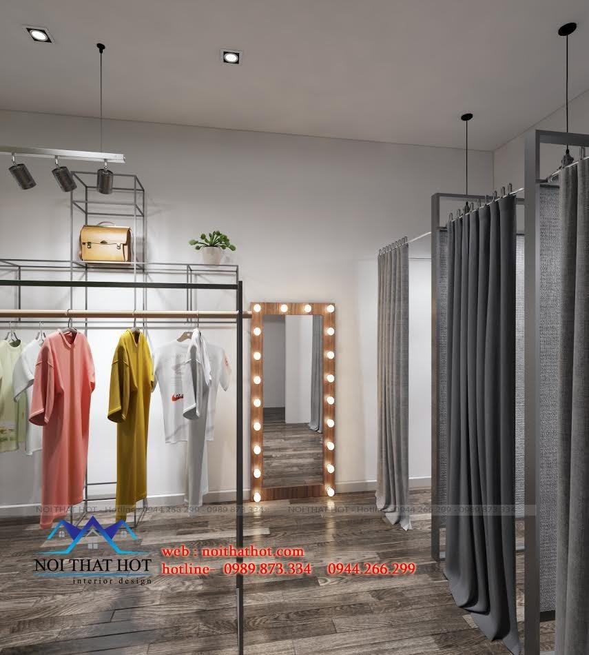 thiết kế shop thời trang nữ phong cách hiện đại