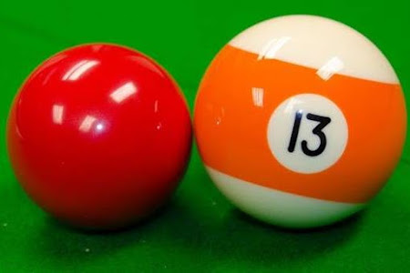 Size Comparison of English and American Pool Balls