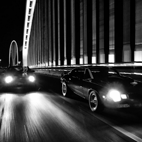 In the night time... by Giada Reccardini - City,  Street & Park  Street Scenes ( mustang, camaro, bridge, calatrava )