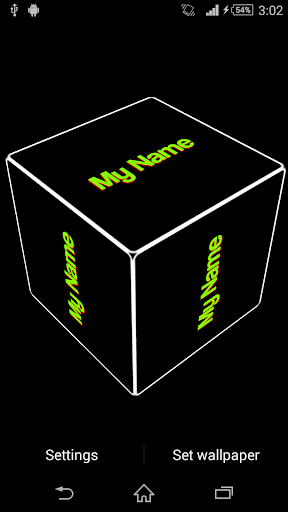 My Name Cube 3D Live Wallpaper