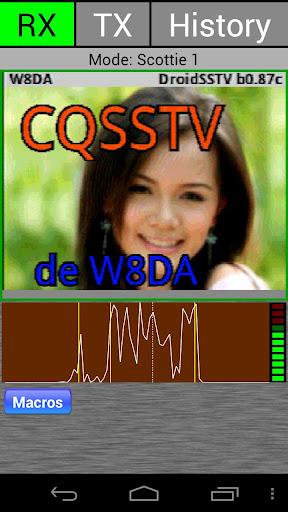 DroidSSTV - SSTV for Ham Radio screenshot 1