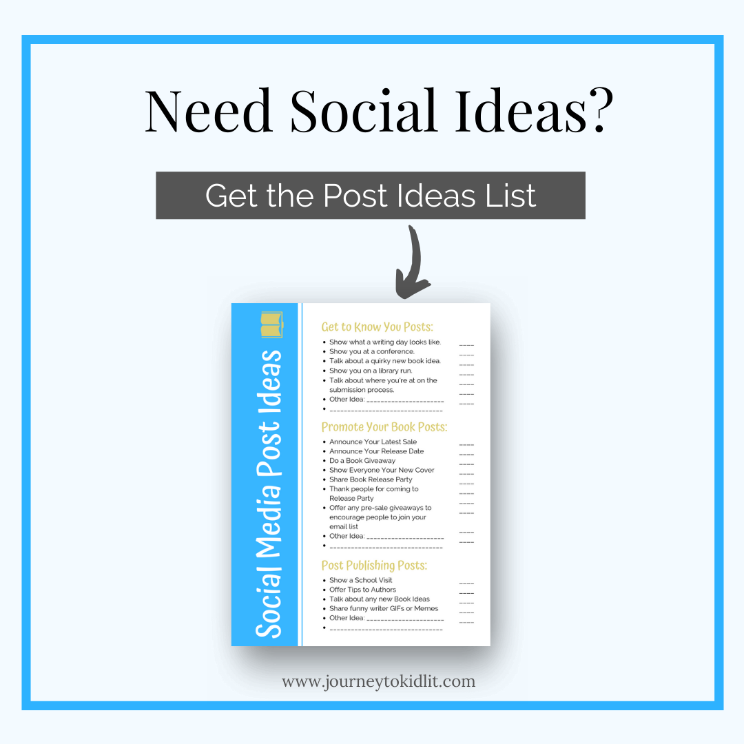 Social Media Post Ideas for Writers
